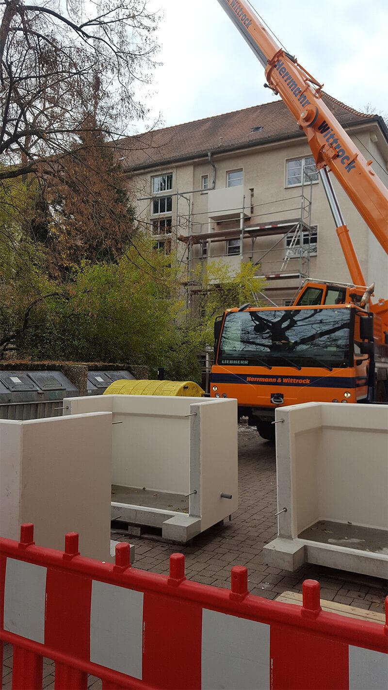 Neue Balkone im Leipziger Waldstraßenviertel